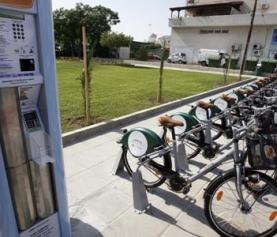 Zadowolenie w Nikozji udostępnione rowery